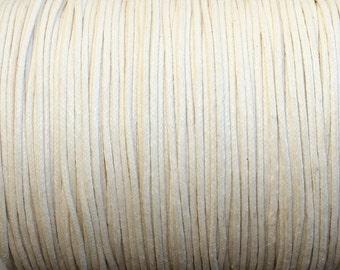 10 Yards - 1mm Natural Waxed Cotton Cord