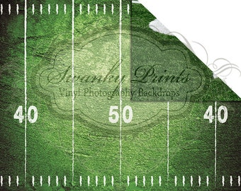 NEW ITEM / 6ft x 5ft REVERSIBLE Vinyl Backdrop / Double sided / 50 Yard Line & Sidelines