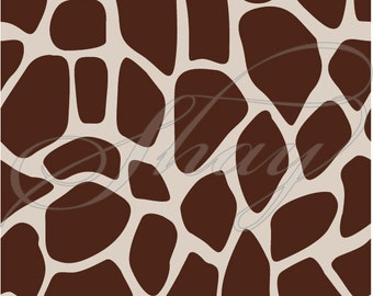 Giraffe Pattern Print  -  SVG cut file for Silhouette and other cutting machines