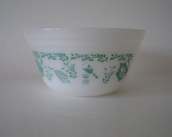 Federal Glass Turquoise Kitchen Utensils Design Mixing Bowl