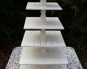 Cupcake Stand, Adjustable Stand, Cupcake Tower, Wood Cupcake Stand, Square Cupcake Stand, Shabby Chic Wedding, Cake Stand, 6 Tier Stand