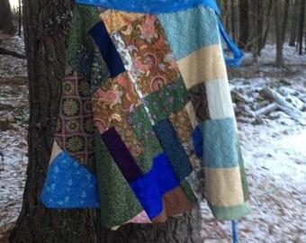 Patchwork Wrap Skirt