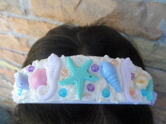 UNDER THE SEA seashells decoden headband