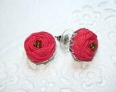 Ranunculus  flower  post  earrings. Choose a color.