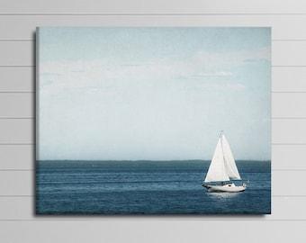 Sailboat Wall Art nautical canvas art | etsy
