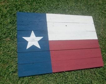48 inch Large Rustic Barnwood Texas Flag