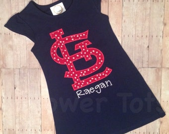 St. Louis Cardinals Dress - STL, monogrammed, applique,