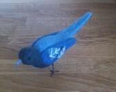 Bird needle felted OOAK felted animal gift under 50