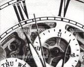 Decoupage Napkins, steampunk, watch parts, clock, vintage, Decoupage supplies, black & white, Scrapbooking, big watch parts, retro,