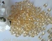 Honey Gold   Faux Diamonds - Plastic -Winter Wedding Confetti - Solitare Faux Diamonds - Table Decoration - Vase Filler