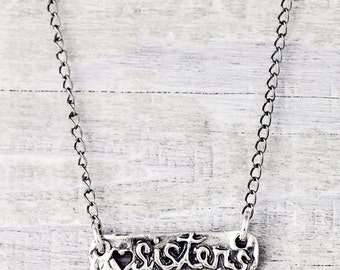 Sister Bar Necklace- Petite Jewelry- Sister Necklace- N690
