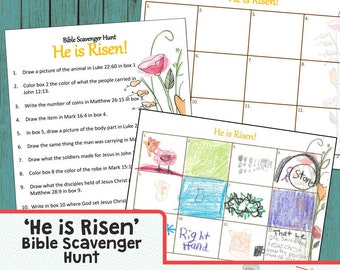 Bible Craft Kit Book Scavenger Hunt He is Risen