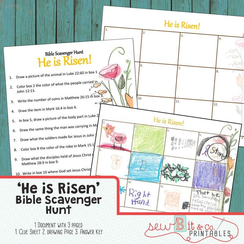 Bible Craft Kit Book Scavenger Hunt He Is Risen