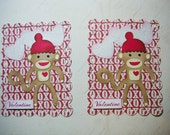 Cute Sock Monkey embellishments or Valentine