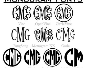 Classic Decal Monograms