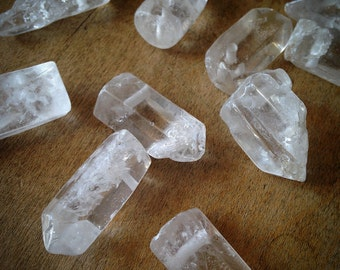 3 - LARGE Natural Crystal Pointer Beads Gemstone Jewelry Supplies (DA159)