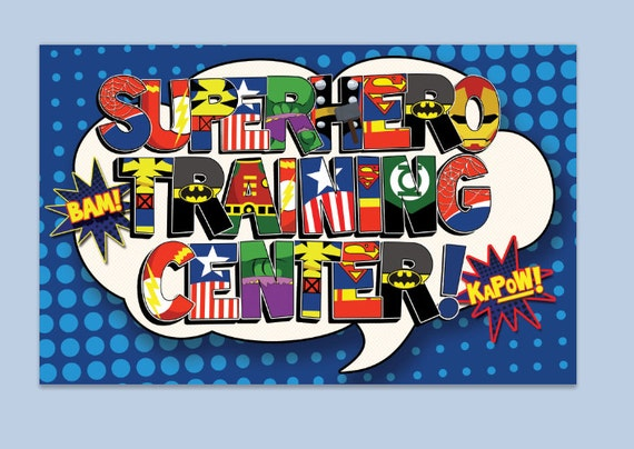 Image result for superheroes in training banner