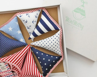Nautical fabric flags #pennants