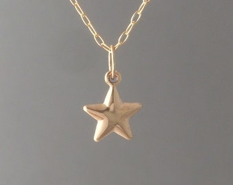 Gold Fill Star Charm Necklace also in Silver