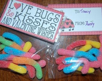 """Instant Download Printable """"Love Bug"""" kids Valentine"""