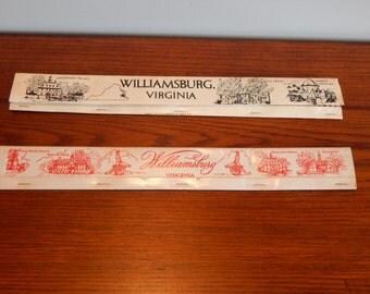 Vintage Match Books Worlds Longest Match Book Williamsburg Virginia Souvenir