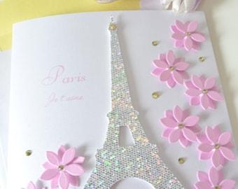 Friendship Greeting Card: 'Paris Je'taime'