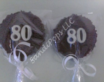 24- 80th birthday / anniversary Lollipop Party Favors