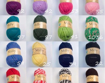 SALE Super Chunky Knitting Yarn 100% Wool Milly by thefeltbox Knit and Felt 50 g 1.7oz Many Colours available