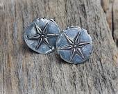 Silver Star Cufflink Rustic Unique Custom Made Cufflinks for Men