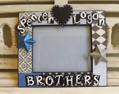 8x10 Custom Frame Brothers Siblings New Baby Gift Personalized