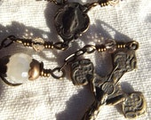 Miraculous Medal Single Decade Pocket Rosary Wire Wrapped Heirloom