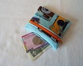 Coin Purse, Zipper Pouch, Change Purse, Wallet, retro, vintage, camera, photography, orange zipper