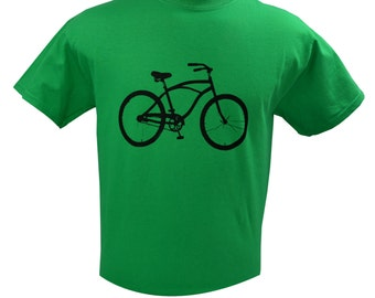 Bicycle Men's T-Shirt Screen Printed S M L XL 2XL