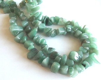 "Aventurine (natural) Extra Large Chip Beads, 15"" Strand"