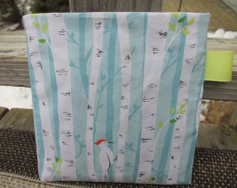 Reusable Snack Bag with Velcro Closure: Birch Forest
