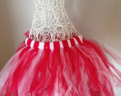 Tutu for Dance or Dress Up, for Baby, Toddler, Girls, Tween, Teen, Women and Runners! - Red and White