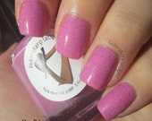 Dedicated Denial of Doctorate (mini 5ml)- pink crelly shimmer indie polish by Fedoraharp Lacquer