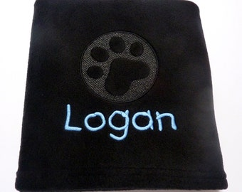Personalised Pet Blanket with Embossed Paw