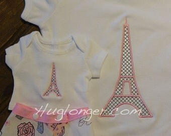 Eiffel Tower Embroidery File