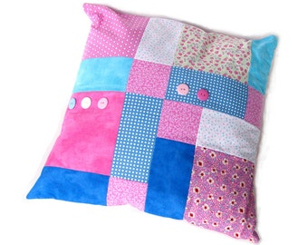 Disappearing Nine Patch Cushion Cover  PDF pattern Patchwork Cushion Pattern Easy Patchwork cushion PDF Simple cushion pattern Digital pdf