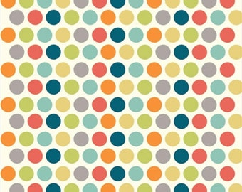 Sale | Birch organic cotton fabric - Just for Fun polka dots - 1/2 YD