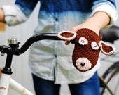 Dog bike handwarmers for adults and teens, birthday gift, crochet bicycle gloves, cycling, gift for bike riders, christmas gift