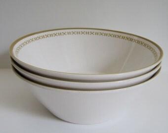 Vintage Bowls -  Syralite by Syracuse China - set of three