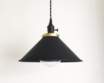 Dome shade hanging pendant lamp light.