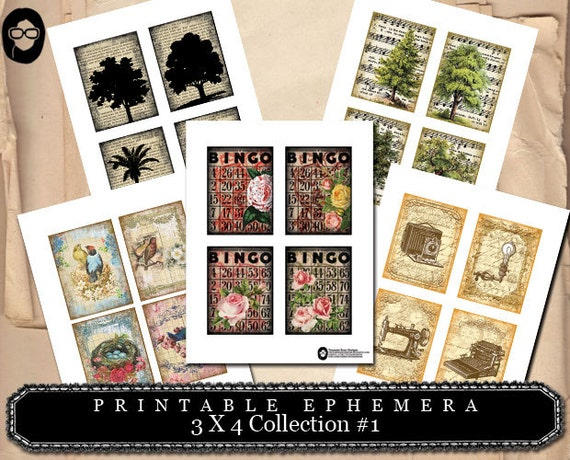 3x4 Collection #1- (5) Page INSTANT DOWNLOAD
