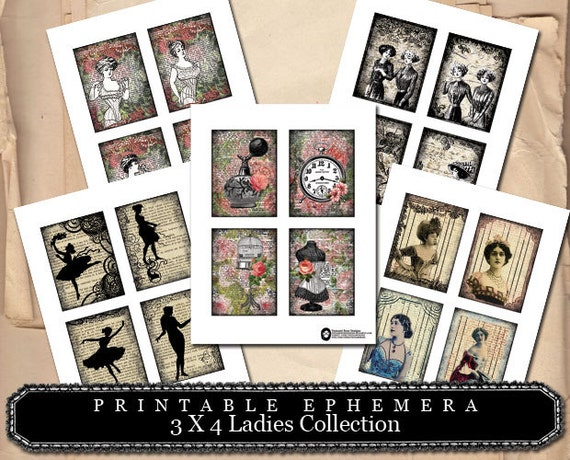 3x4 Ladies Collection- (5) Page INSTANT DOWNLOAD