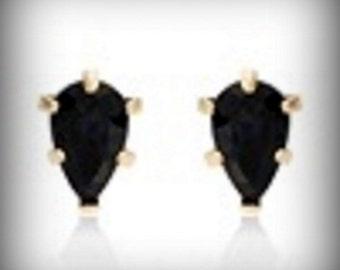 10K Yellow Gold Sapphire Earrings