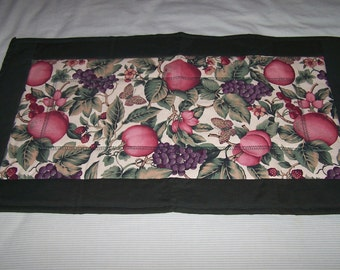 """Mixed fruit quilted table runner 14"""" X 25 """""""