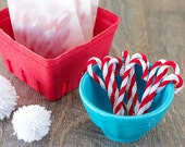 Set of 10.  Mini Candy Canes. Chenille Candy Canes. Christmas. Scrapbooking.