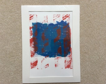 Abstract Relief Art Print